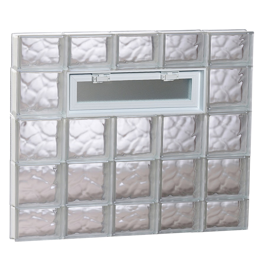 REDI2SET Wavy Pattern Frameless Replacement Glass Block Window (Rough Opening: 40-in x 36-in; Actual: 38.75-in x 34.75-in)