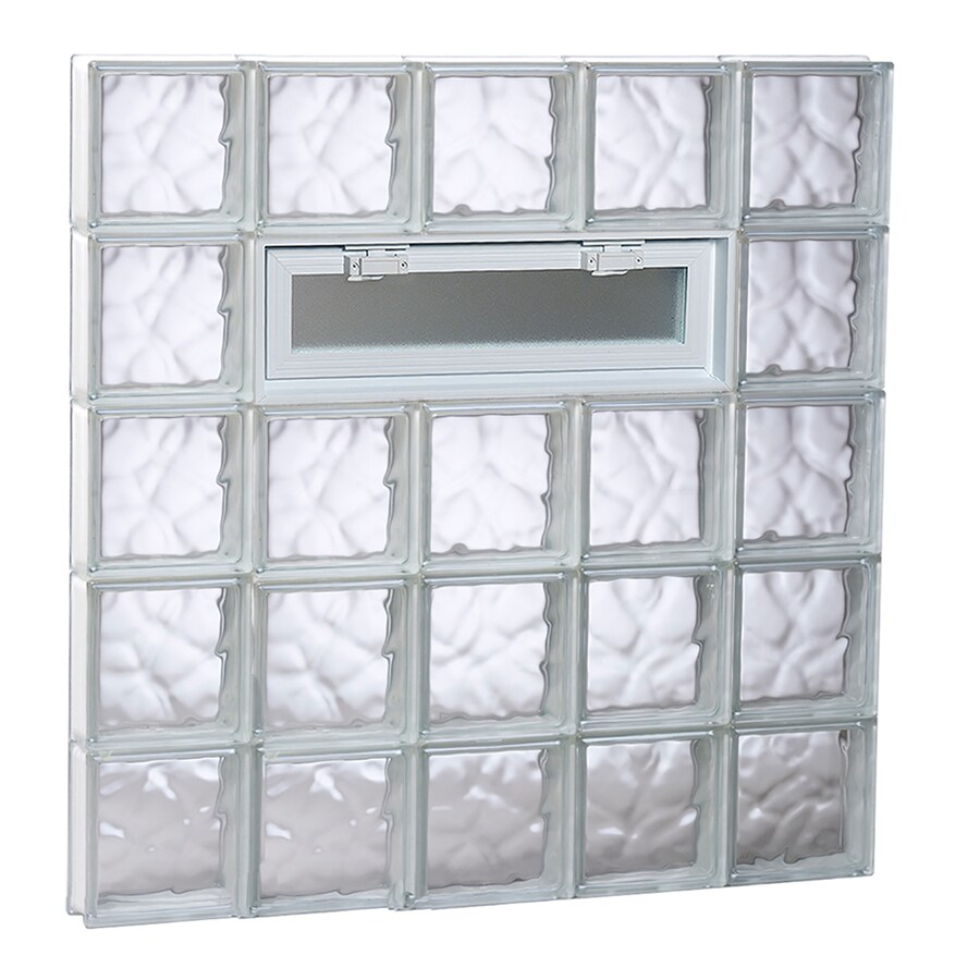 REDI2SET Wavy Pattern Frameless Replacement Glass Block Window (Rough Opening: 40-in x 40-in; Actual: 38.75-in x 38.75-in)