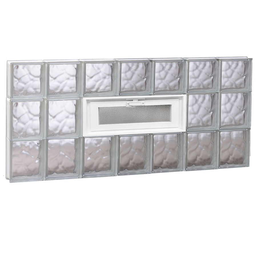 REDI2SET Wavy Pattern Frameless Replacement Glass Block Window (Rough Opening: 42-in x 22-in; Actual: 40.25-in x 21.25-in)