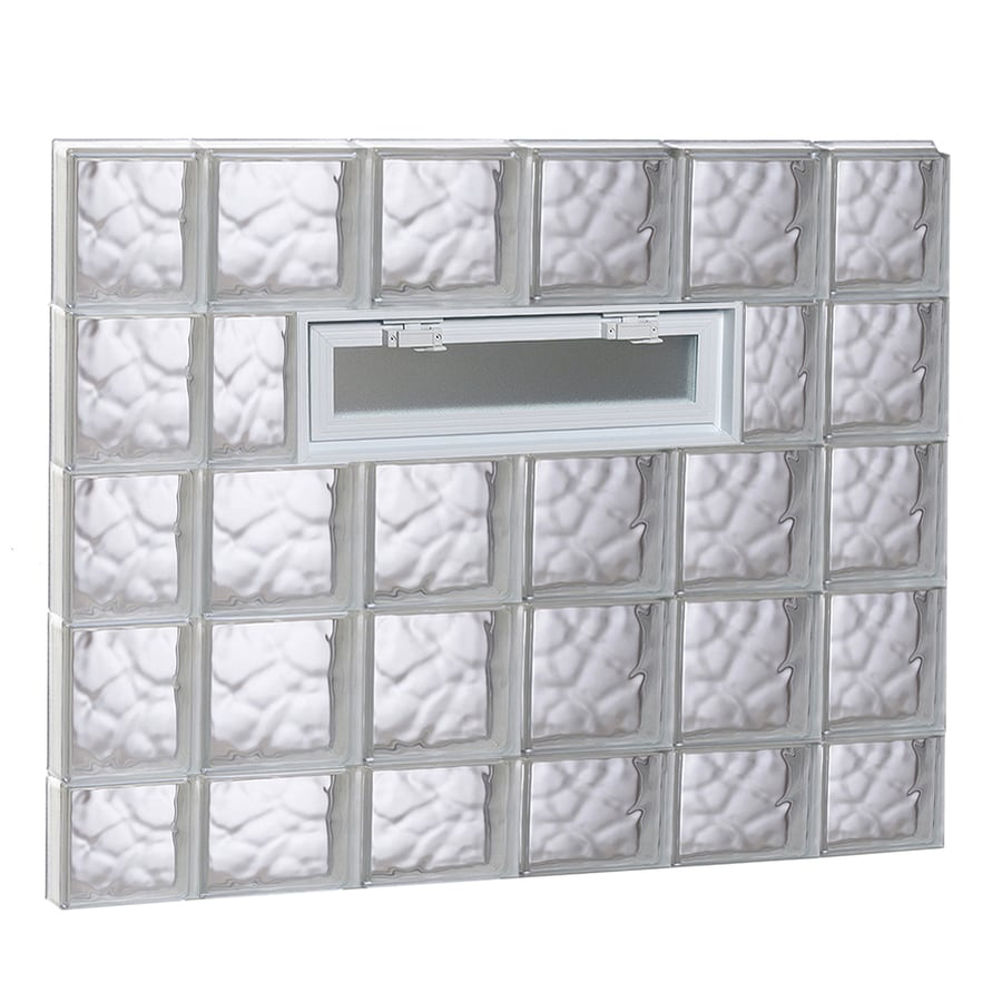 REDI2SET Wavy Pattern Frameless Replacement Glass Block Window (Rough Opening: 44-in x 38-in; Actual: 42.5-in x 36.75-in)