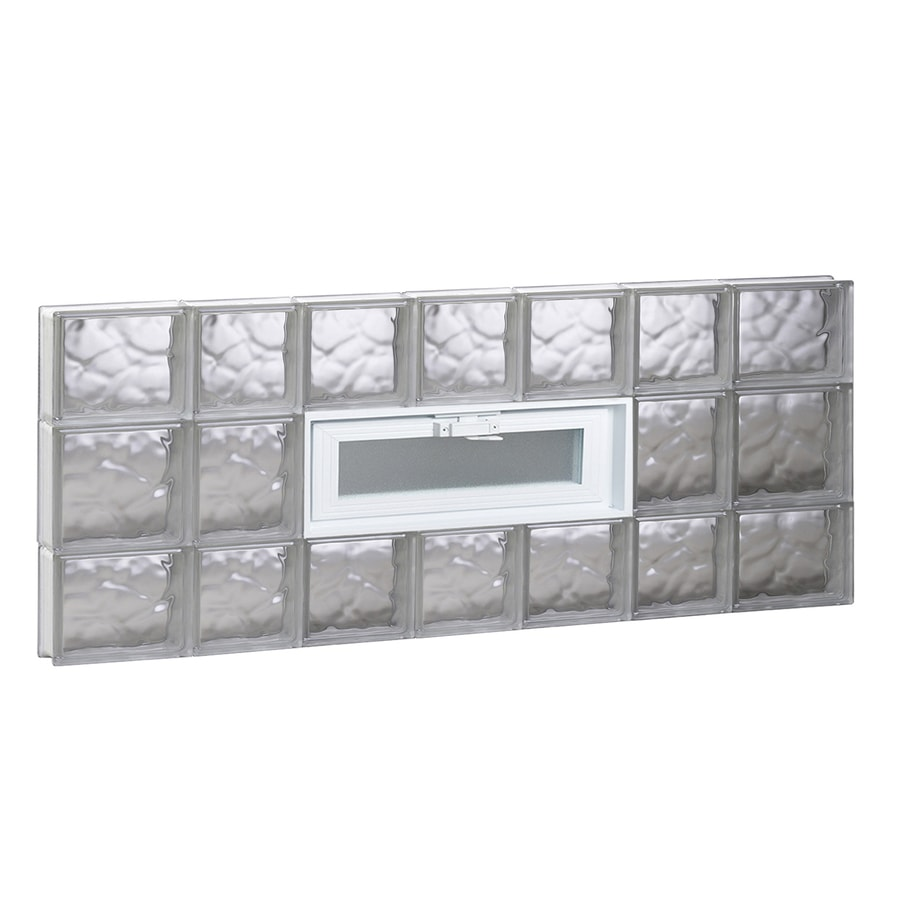 REDI2SET Wavy Pattern Frameless Replacement Glass Block Window (Rough Opening: 46-in x 20-in; Actual: 44.25-in x 19.25-in)