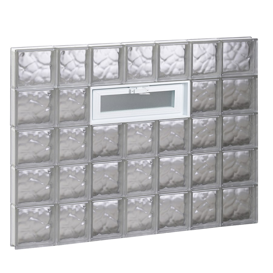 REDI2SET Wavy Pattern Frameless Replacement Glass Block Window (Rough Opening: 46-in x 40-in; Actual: 44.25-in x 38.75-in)