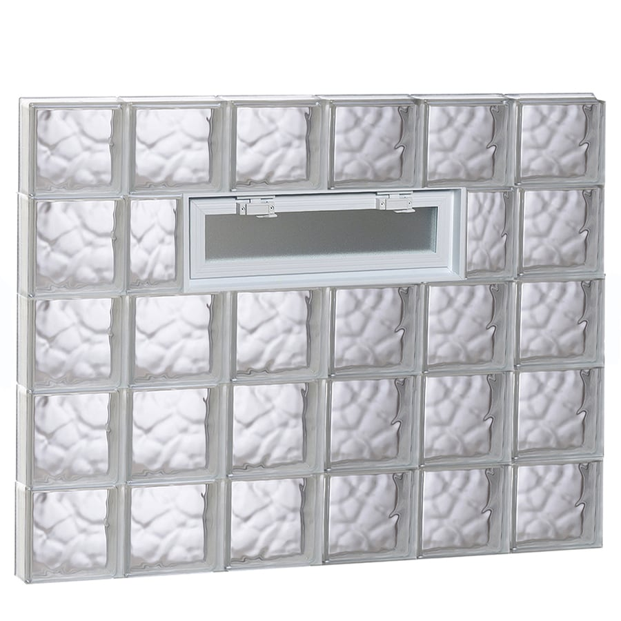 REDI2SET Wavy Pattern Frameless Replacement Glass Block Window (Rough Opening: 48-in x 40-in; Actual: 46.5-in x 38.75-in)