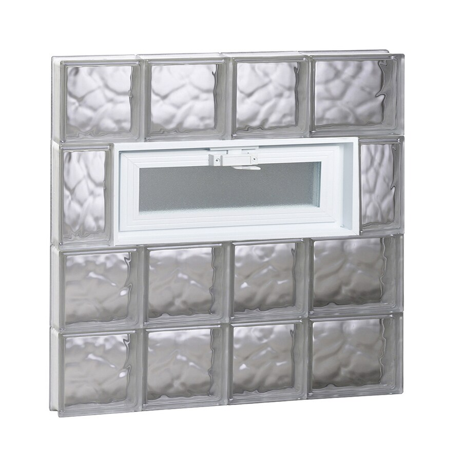 REDI2SET Wavy Pattern Frameless Replacement Glass Block Window (Rough Opening: 26-in x 26-in; Actual: 25-in x 25-in)