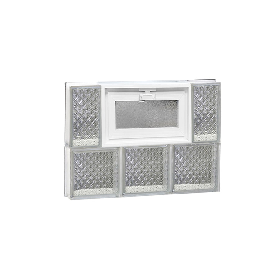 REDI2SET Diamond Pattern Frameless Replacement Glass Block Window (Rough Opening: 18-in x 14-in; Actual: 17.25-in x 13.5-in)