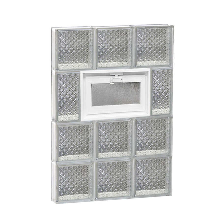 REDI2SET Diamond Pattern Frameless Replacement Glass Block Window (Rough Opening: 18-in x 26-in; Actual: 17.25-in x 25-in)