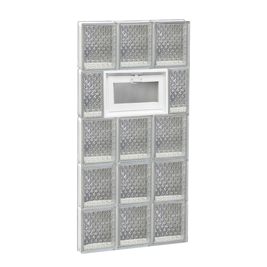 REDI2SET Diamond Pattern Frameless Replacement Glass Block Window (Rough Opening: 18-in x 40-in; Actual: 17.25-in x 38.75-in)