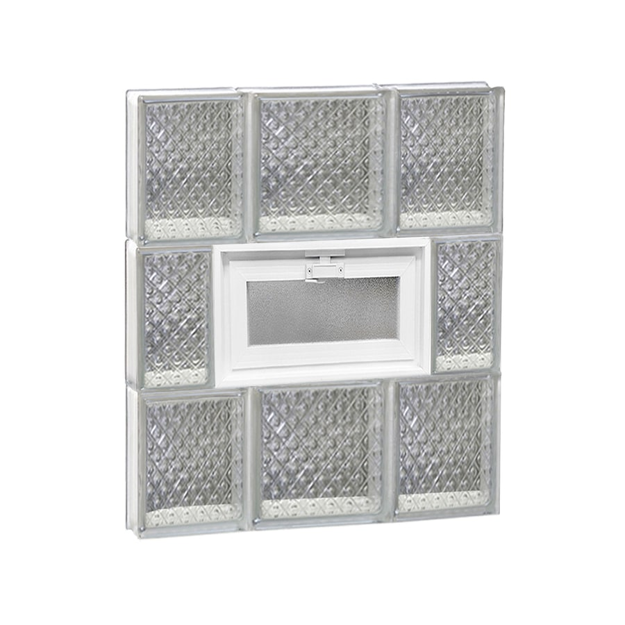 REDI2SET Diamond Pattern Frameless Replacement Glass Block Window (Rough Opening: 20-in x 24-in; Actual: 19.25-in x 23.25-in)