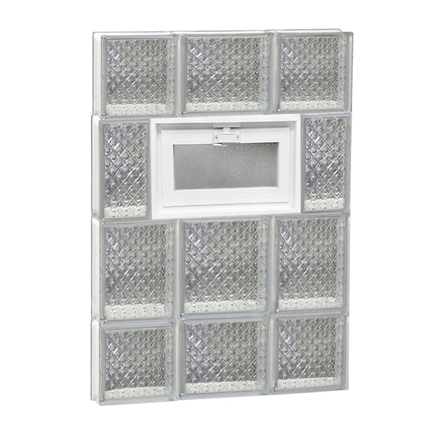 REDI2SET Diamond Pattern Frameless Replacement Glass Block Window (Rough Opening: 20-in x 28-in; Actual: 19.25-in x 27-in)