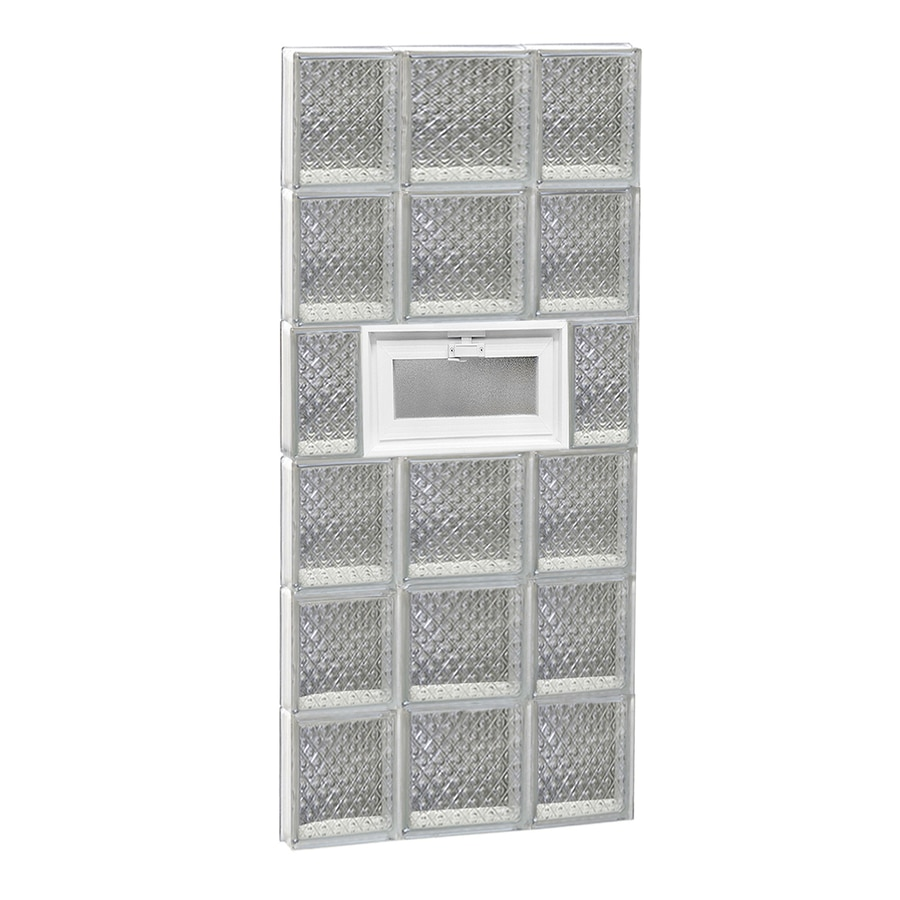 REDI2SET Diamond Pattern Frameless Replacement Glass Block Window (Rough Opening: 20-in x 48-in; Actual: 19.25-in x 46.5-in)