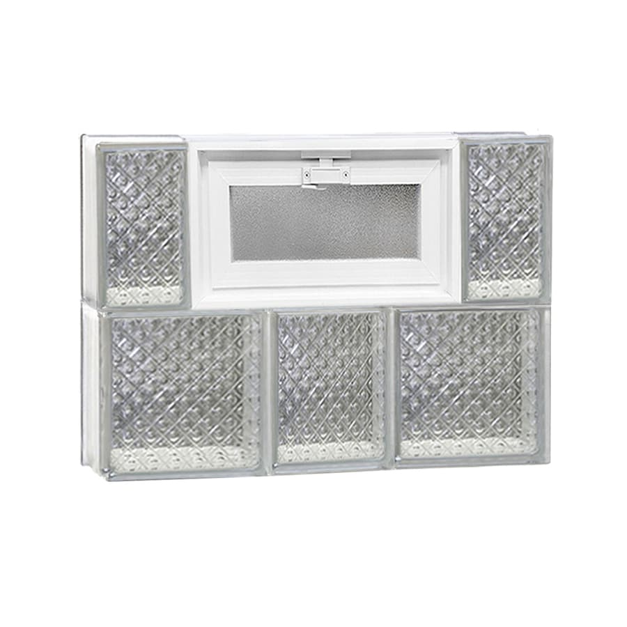 REDI2SET Diamond Pattern Frameless Replacement Glass Block Window (Rough Opening: 22-in x 16-in; Actual: 21.25-in x 15.5-in)