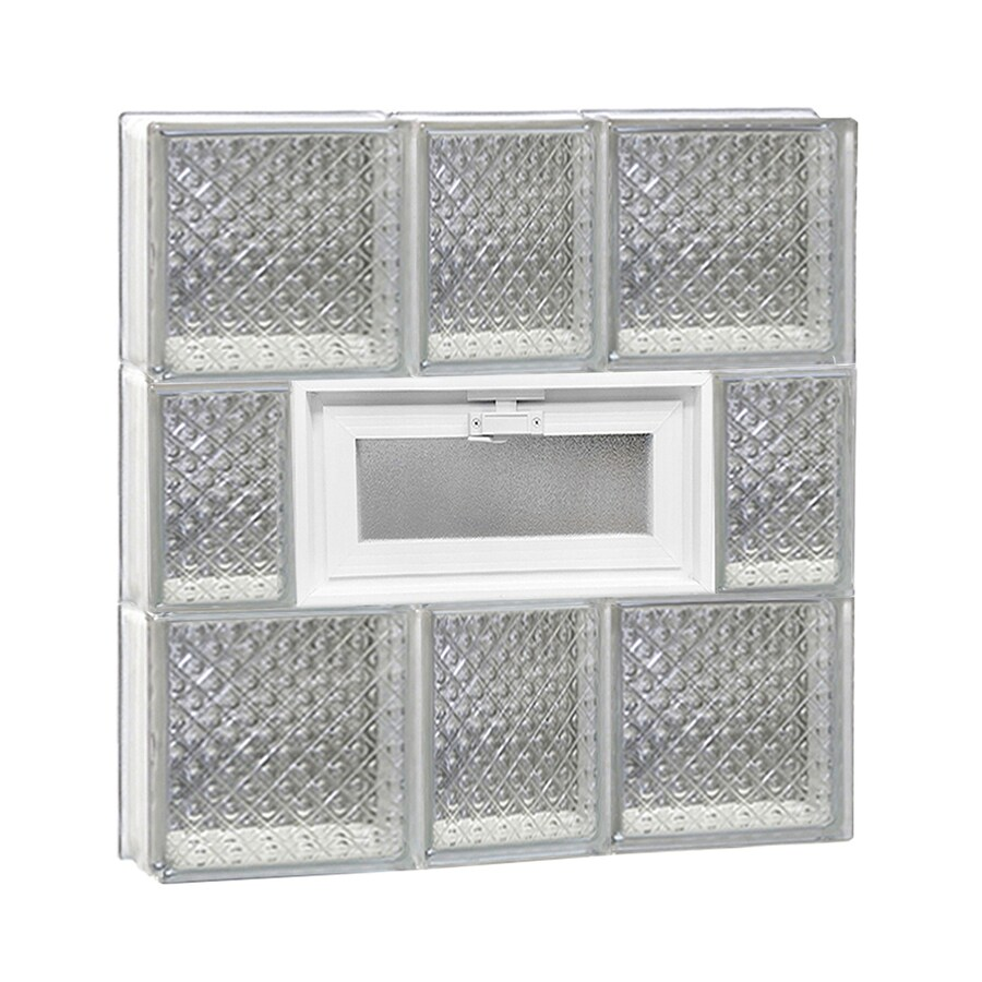 REDI2SET Diamond Pattern Frameless Replacement Glass Block Window (Rough Opening: 22-in x 24-in; Actual: 21.25-in x 23.25-in)