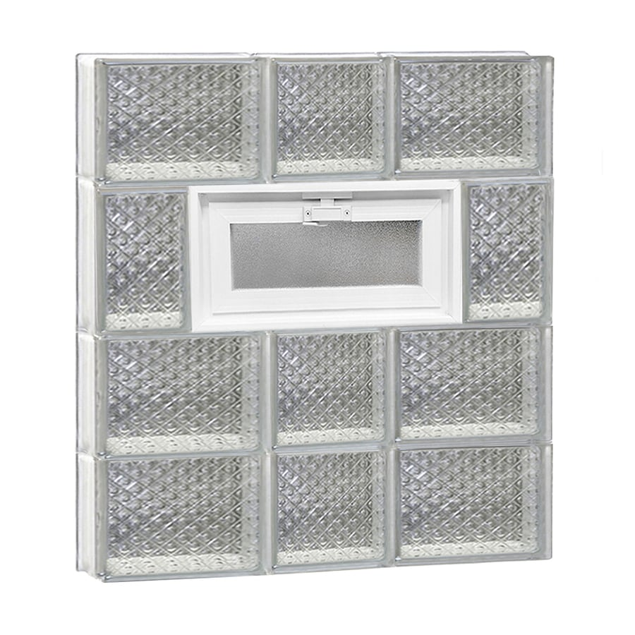 REDI2SET Diamond Pattern Frameless Replacement Glass Block Window (Rough Opening: 22-in x 26-in; Actual: 21.25-in x 25-in)