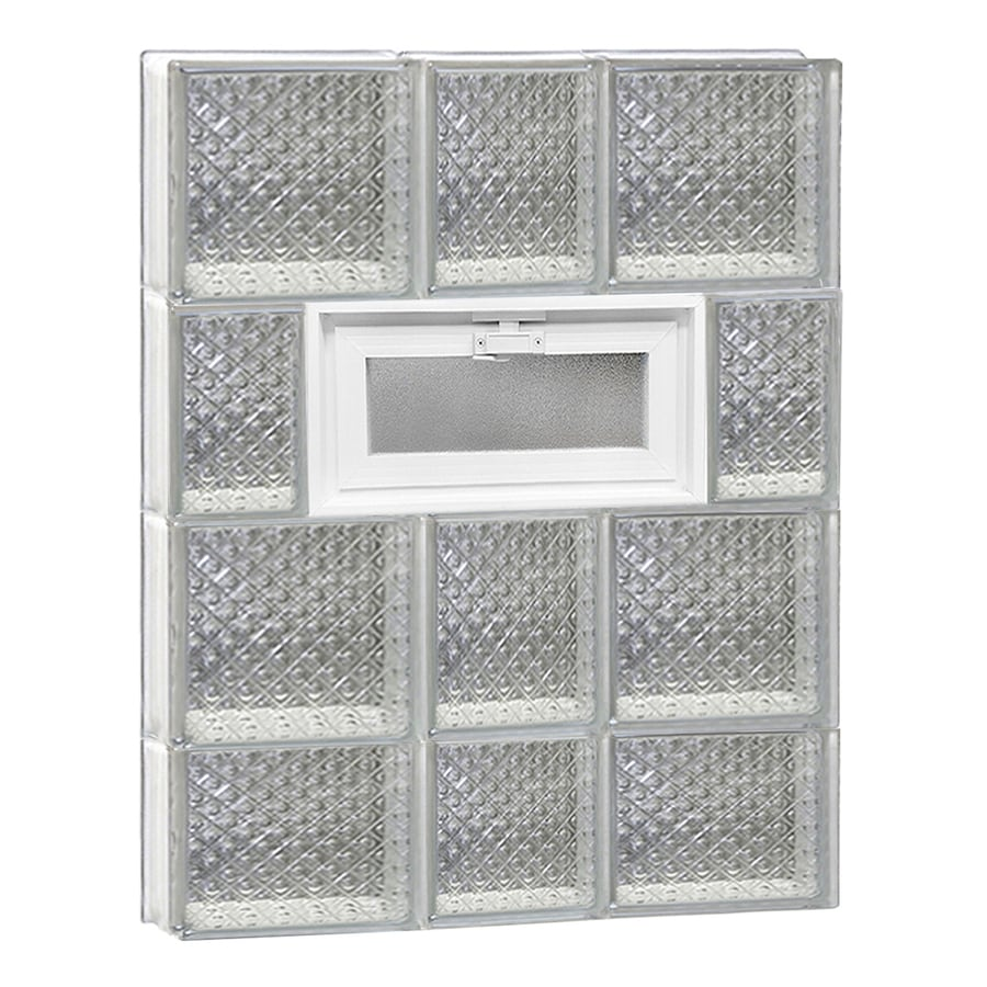 REDI2SET Diamond Pattern Frameless Replacement Glass Block Window (Rough Opening: 22-in x 30-in; Actual: 21.25-in x 29-in)