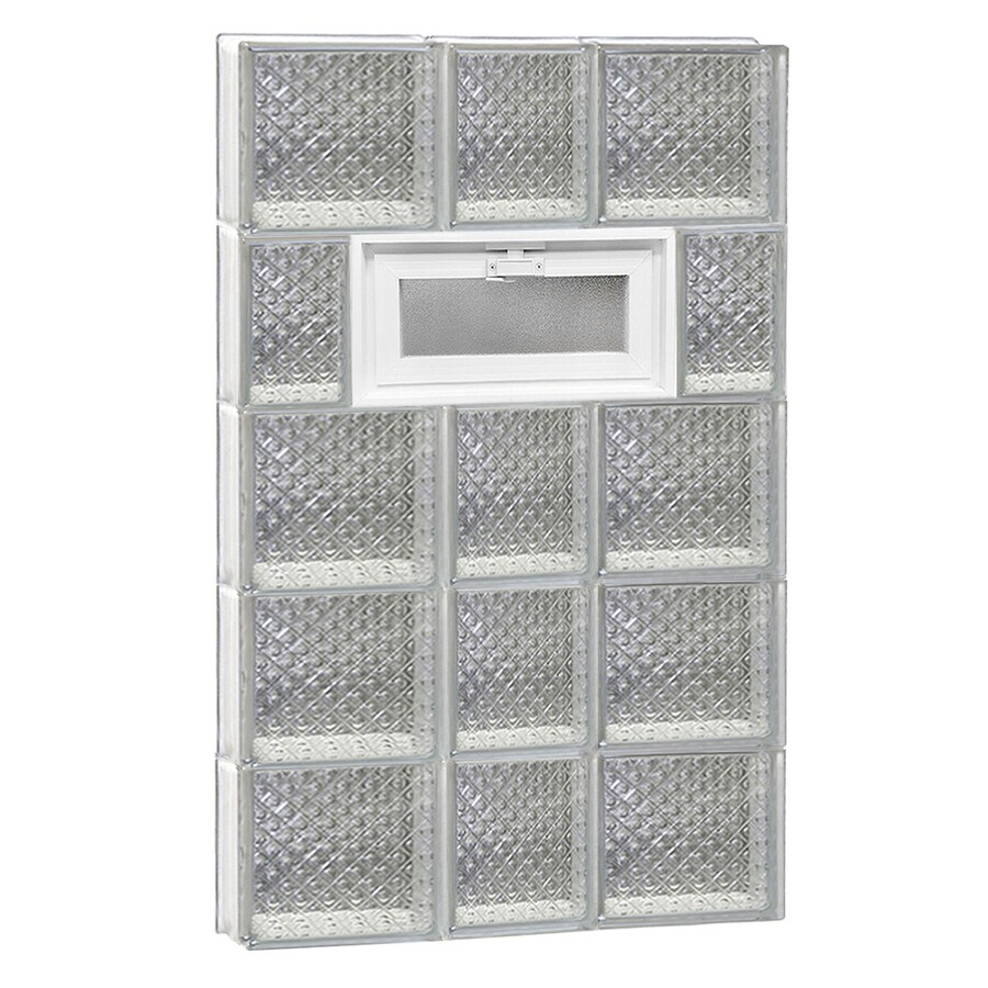 REDI2SET Diamond Pattern Frameless Replacement Glass Block Window (Rough Opening: 22-in x 40-in; Actual: 21.25-in x 38.75-in)