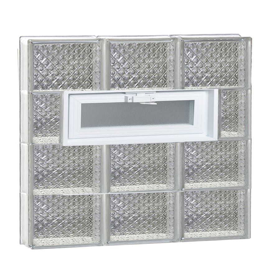 REDI2SET Diamond Pattern Frameless Replacement Glass Block Window (Rough Opening: 24-in x 26-in; Actual: 23.25-in x 25-in)