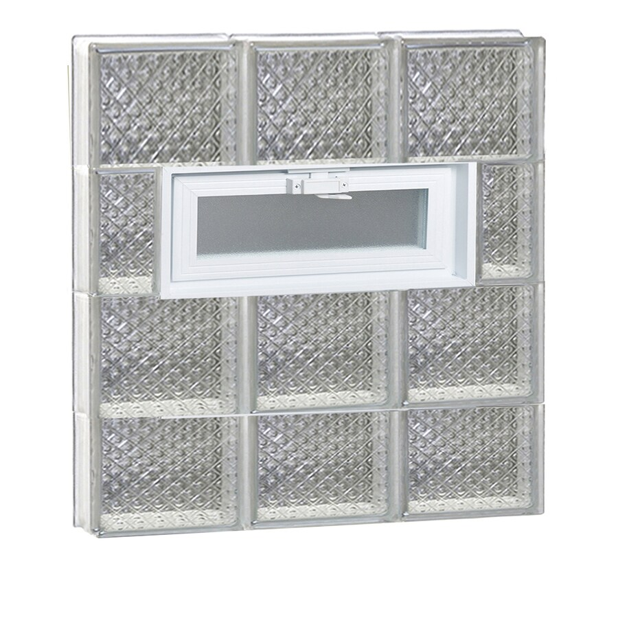 REDI2SET Diamond Pattern Frameless Replacement Glass Block Window (Rough Opening: 24-in x 30-in; Actual: 23.25-in x 29-in)
