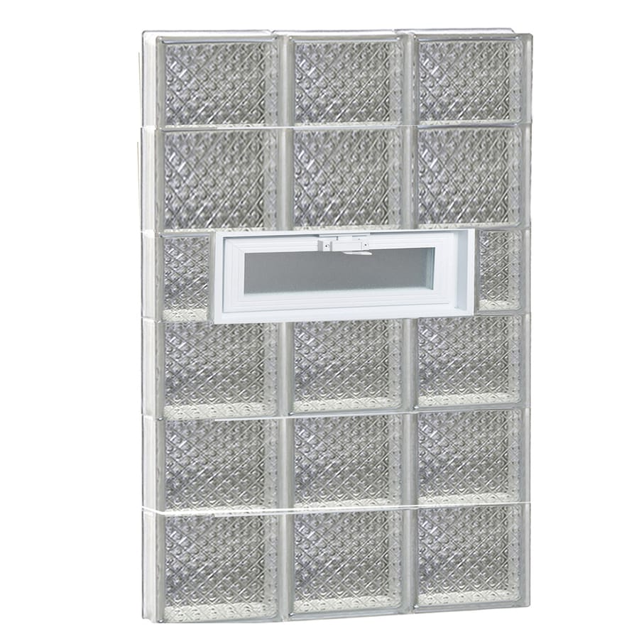 REDI2SET Diamond Pattern Frameless Replacement Glass Block Window (Rough Opening: 24-in x 46-in; Actual: 23.25-in x 44.5-in)