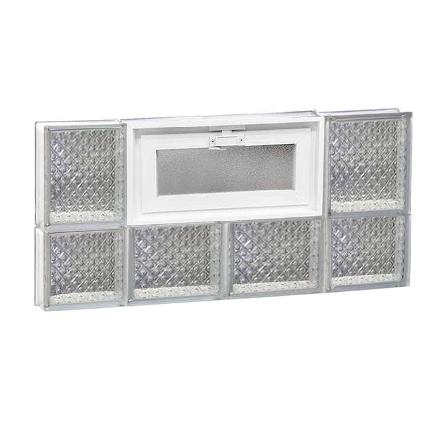 REDI2SET Diamond Pattern Frameless Replacement Glass Block Window (Rough Opening: 28-in x 14-in; Actual: 27-in x 13.5-in)