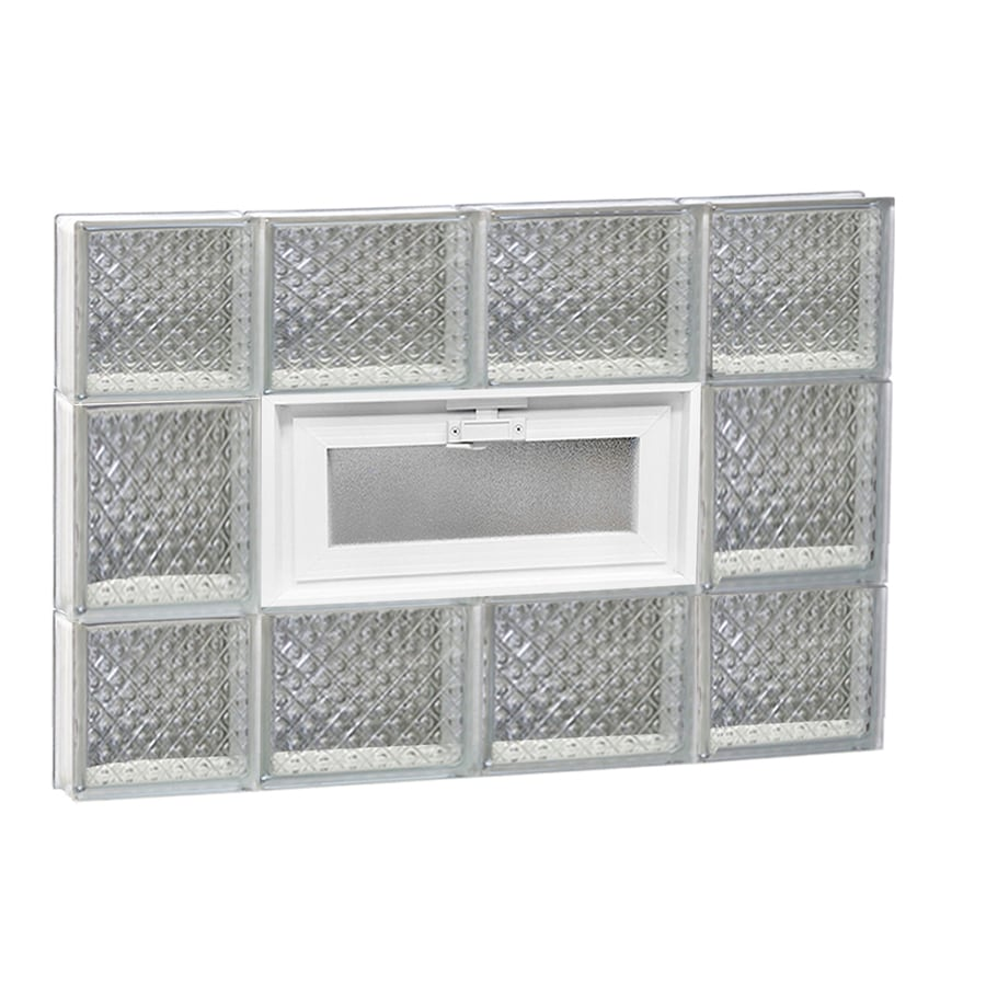 REDI2SET Diamond Pattern Frameless Replacement Glass Block Window (Rough Opening: 28-in x 20-in; Actual: 27-in x 19.25-in)