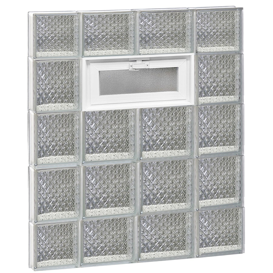 REDI2SET Diamond Pattern Frameless Replacement Glass Block Window (Rough Opening: 28-in x 36-in; Actual: 27-in x 34.75-in)