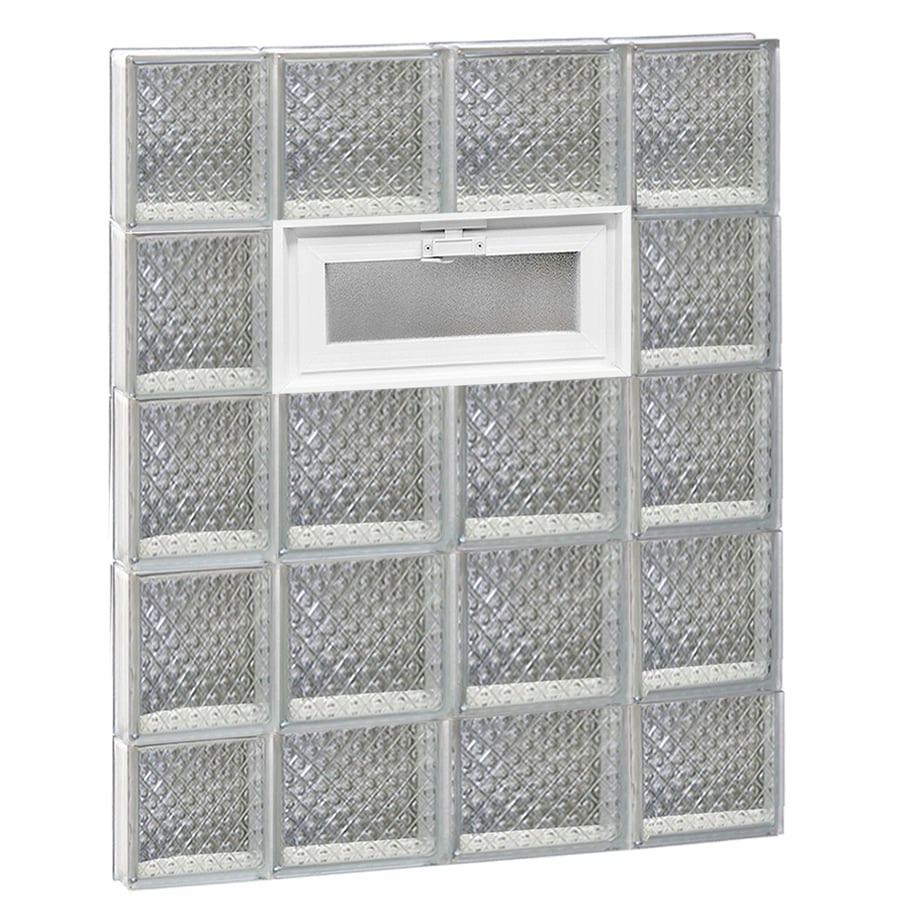 REDI2SET Diamond Pattern Frameless Replacement Glass Block Window (Rough Opening: 28-in x 38-in; Actual: 27-in x 36.75-in)