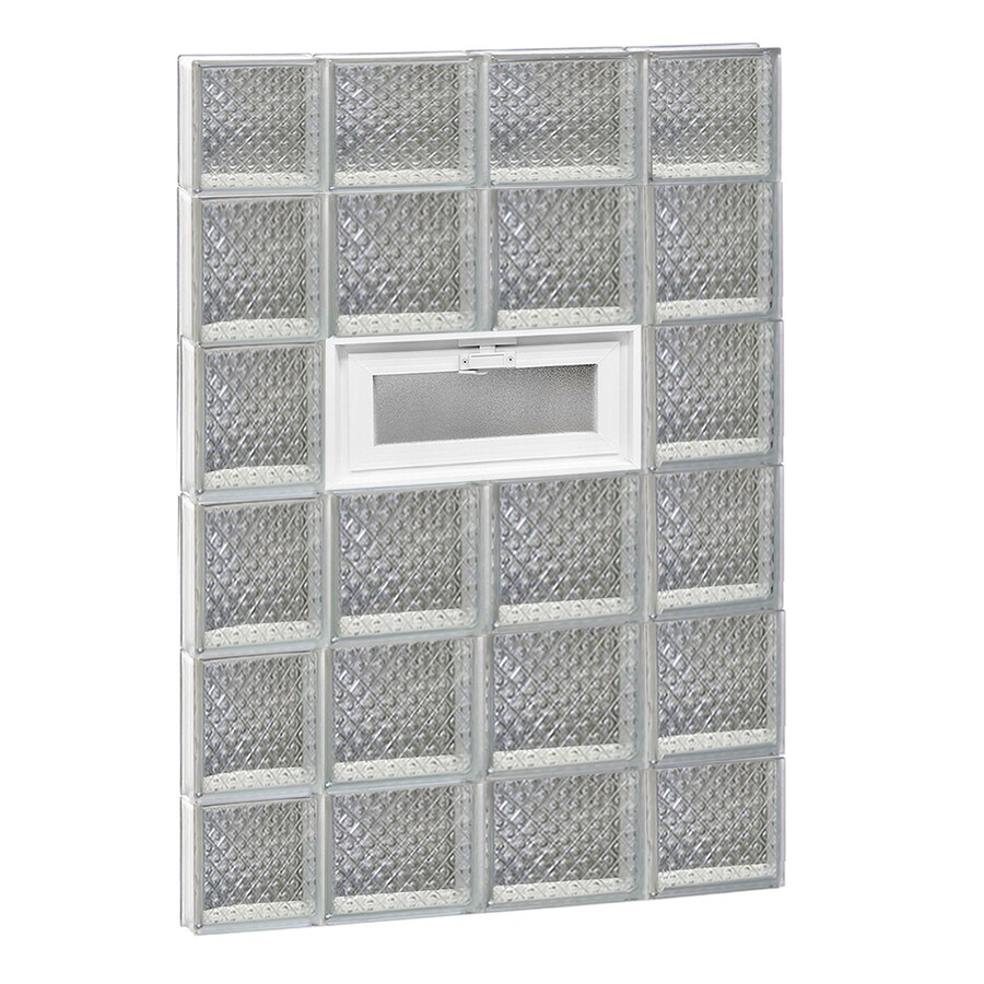 REDI2SET Diamond Pattern Frameless Replacement Glass Block Window (Rough Opening: 28-in x 44-in; Actual: 27-in x 42.5-in)