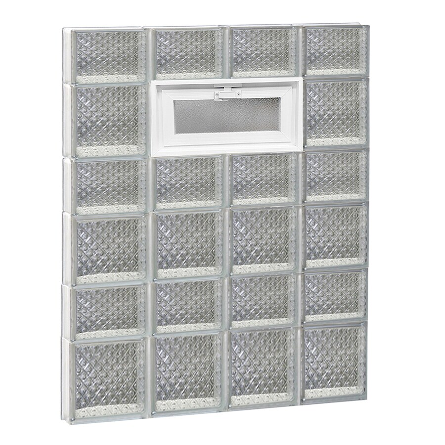 REDI2SET Diamond Pattern Frameless Replacement Glass Block Window (Rough Opening: 32-in x 42-in; Actual: 31-in x 40.5-in)