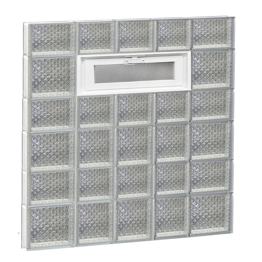 REDI2SET Diamond Pattern Frameless Replacement Glass Block Window (Rough Opening: 34-in x 44-in; Actual: 32.75-in x 42.5-in)