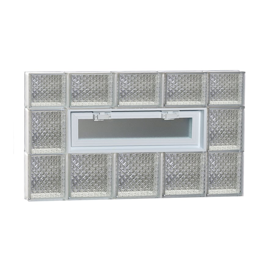 REDI2SET Diamond Pattern Frameless Replacement Glass Block Window (Rough Opening: 36-in x 22-in; Actual: 34.75-in x 21.25-in)