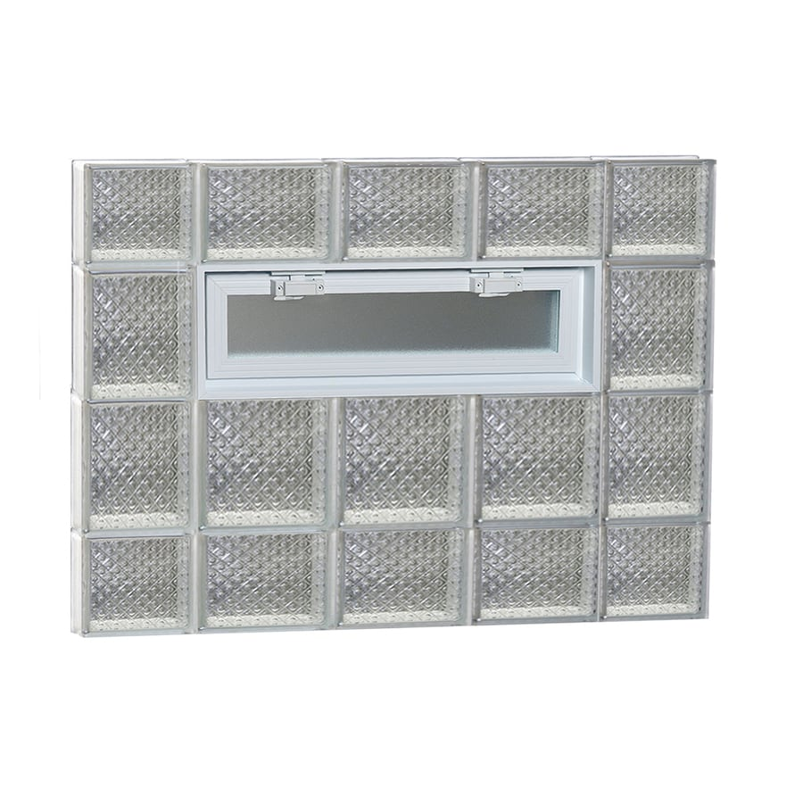 REDI2SET Diamond Pattern Frameless Replacement Glass Block Window (Rough Opening: 36-in x 28-in; Actual: 34.75-in x 27-in)