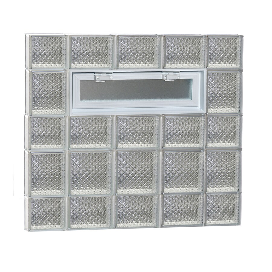 REDI2SET Diamond Pattern Frameless Replacement Glass Block Window (Rough Opening: 36-in x 34-in; Actual: 34.75-in x 32.75-in)