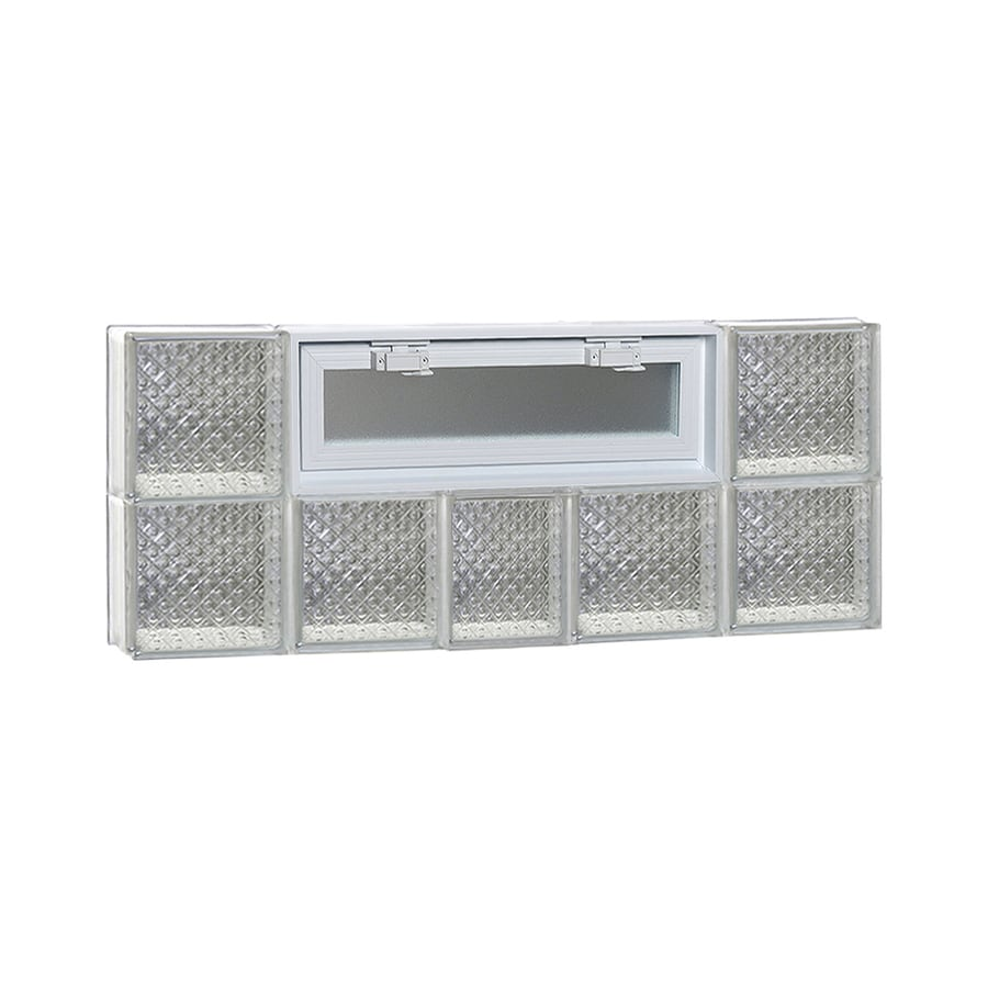 REDI2SET Diamond Pattern Frameless Replacement Glass Block Window (Rough Opening: 38-in x 16-in; Actual: 36.75-in x 15.5-in)