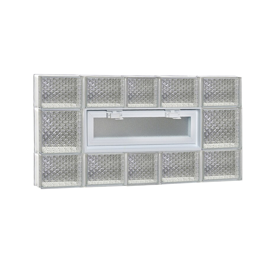 REDI2SET Diamond Pattern Frameless Replacement Glass Block Window (Rough Opening: 38-in x 20-in; Actual: 36.75-in x 19.25-in)