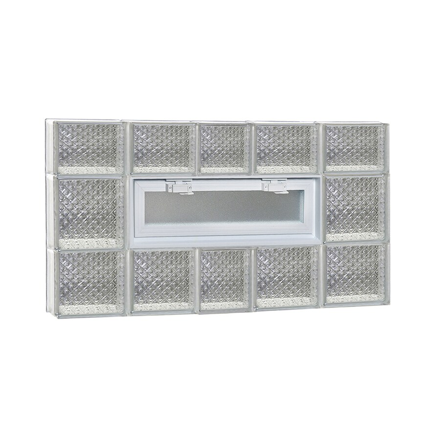 REDI2SET Diamond Pattern Frameless Replacement Glass Block Window (Rough Opening: 38-in x 22-in; Actual: 36.75-in x 21.25-in)