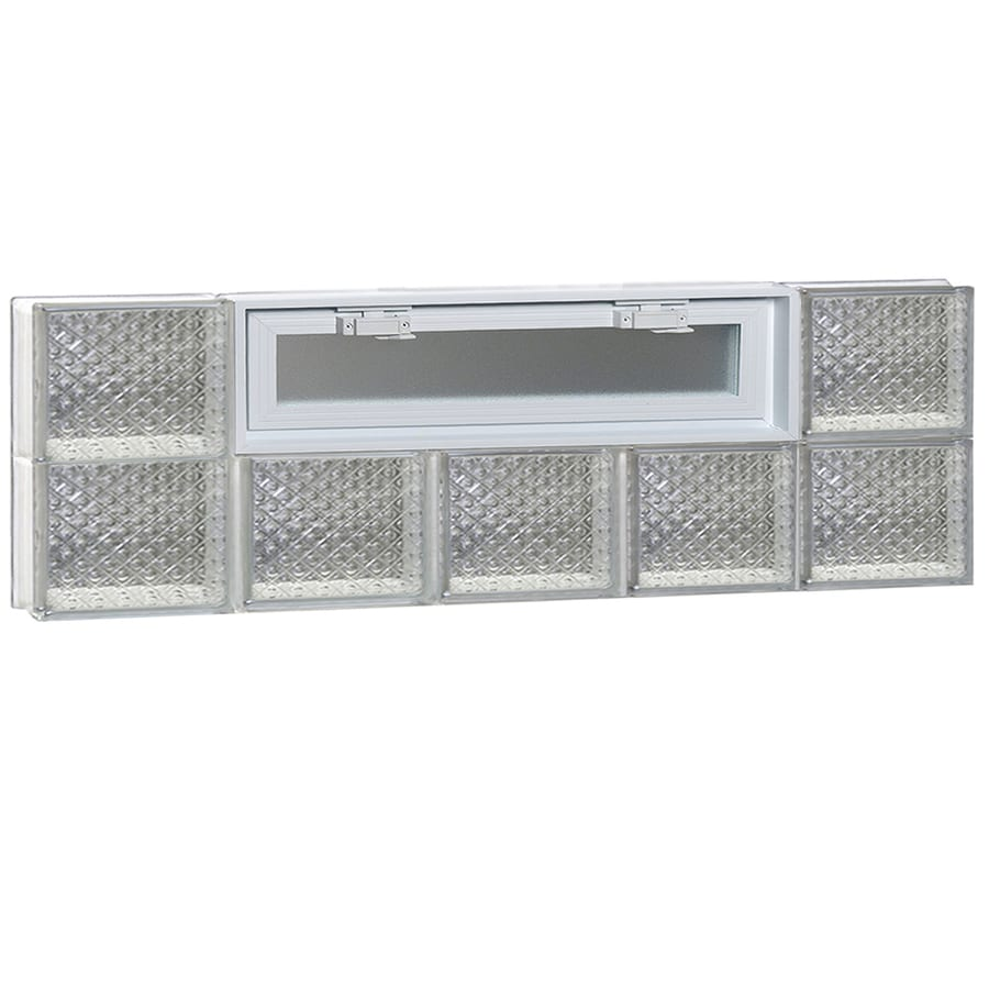REDI2SET Diamond Pattern Frameless Replacement Glass Block Window (Rough Opening: 40-in x 12-in; Actual: 38.75-in x 11.5-in)