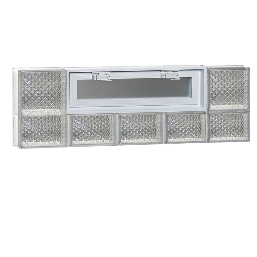 REDI2SET Diamond Pattern Frameless Replacement Glass Block Window (Rough Opening: 40-in x 14-in; Actual: 38.75-in x 13.5-in)