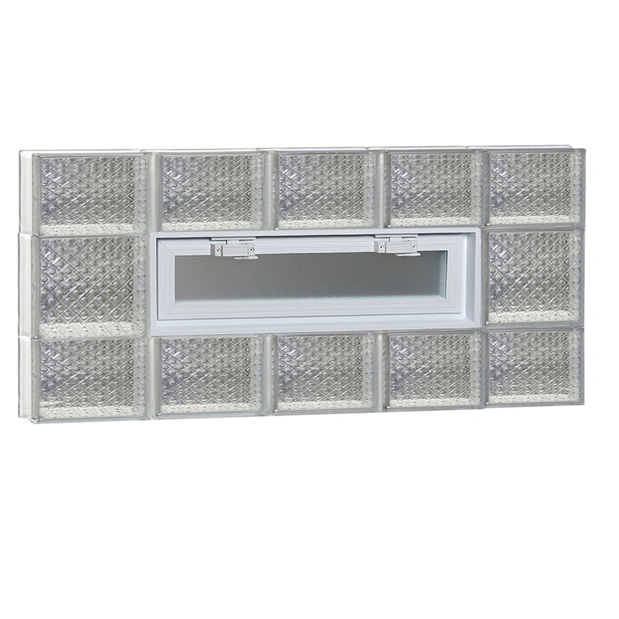 REDI2SET Diamond Pattern Frameless Replacement Glass Block Window (Rough Opening: 40-in x 20-in; Actual: 38.75-in x 19.25-in)