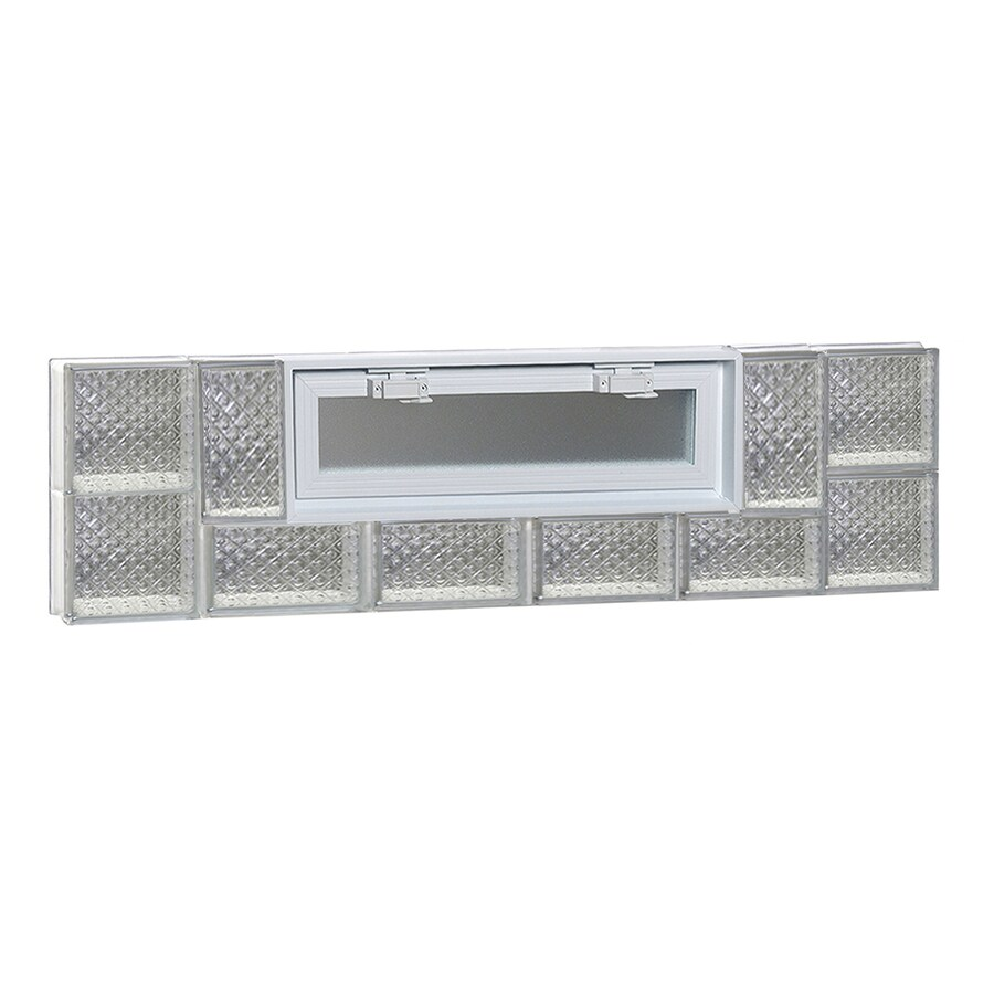 REDI2SET Diamond Pattern Frameless Replacement Glass Block Window (Rough Opening: 44-in x 12-in; Actual: 42.5-in x 11.5-in)