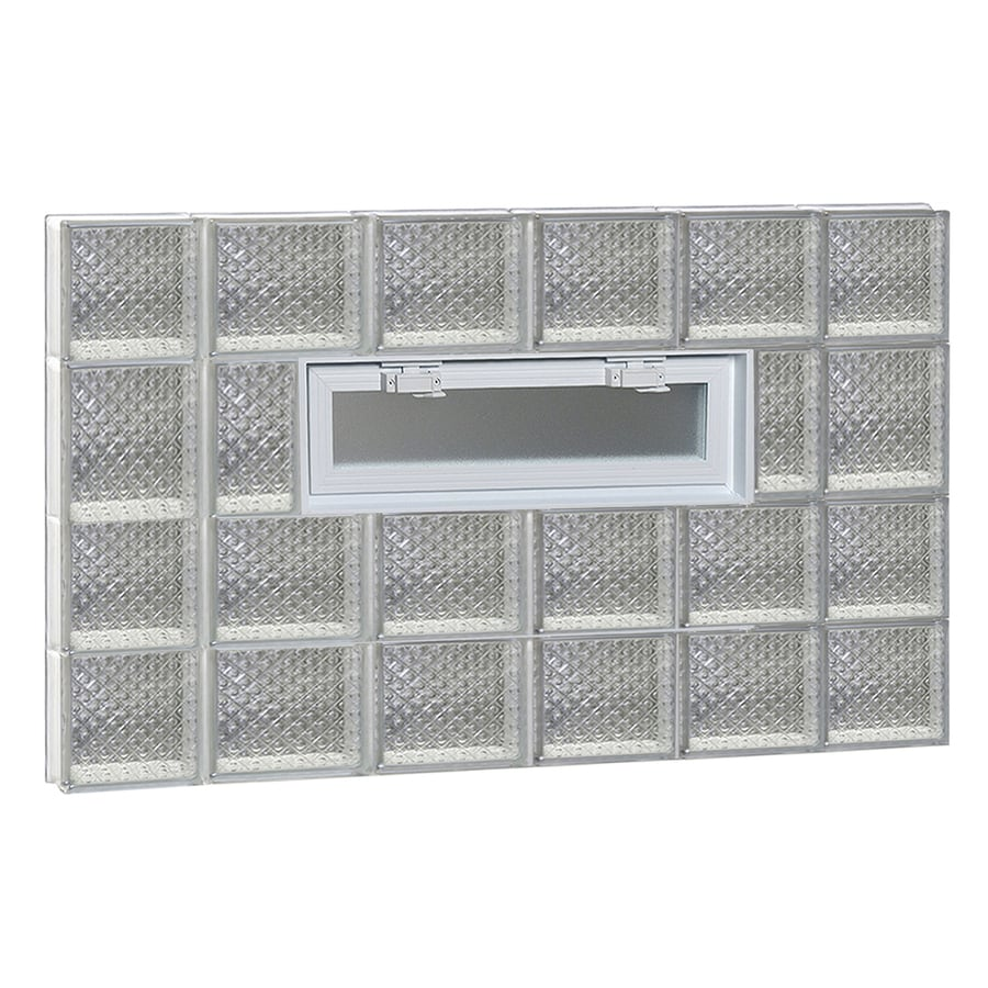 REDI2SET Diamond Pattern Frameless Replacement Glass Block Window (Rough Opening: 44-in x 26-in; Actual: 42.5-in x 25-in)
