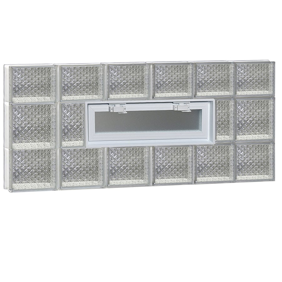 REDI2SET Diamond Pattern Frameless Replacement Glass Block Window (Rough Opening: 48-in x 20-in; Actual: 46.5-in x 19.25-in)