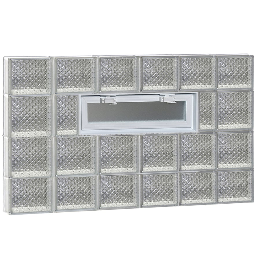REDI2SET Diamond Pattern Frameless Replacement Glass Block Window (Rough Opening: 48-in x 28-in; Actual: 46.5-in x 27-in)