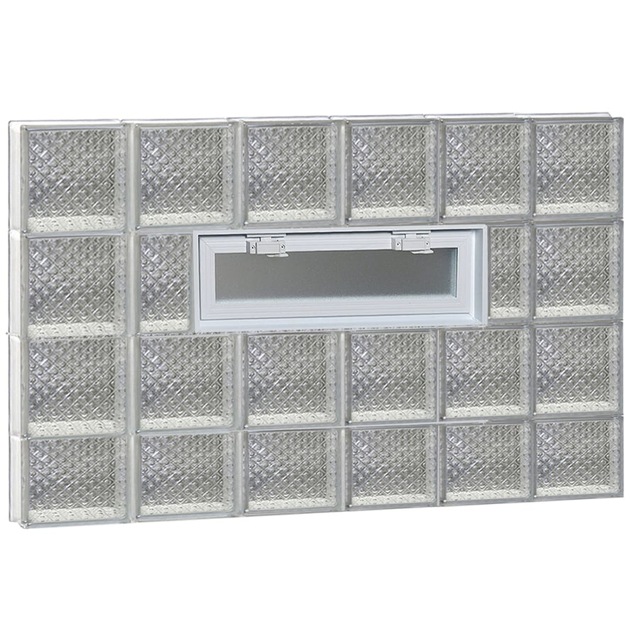 REDI2SET Diamond Pattern Frameless Replacement Glass Block Window (Rough Opening: 48-in x 30-in; Actual: 46.5-in x 29-in)
