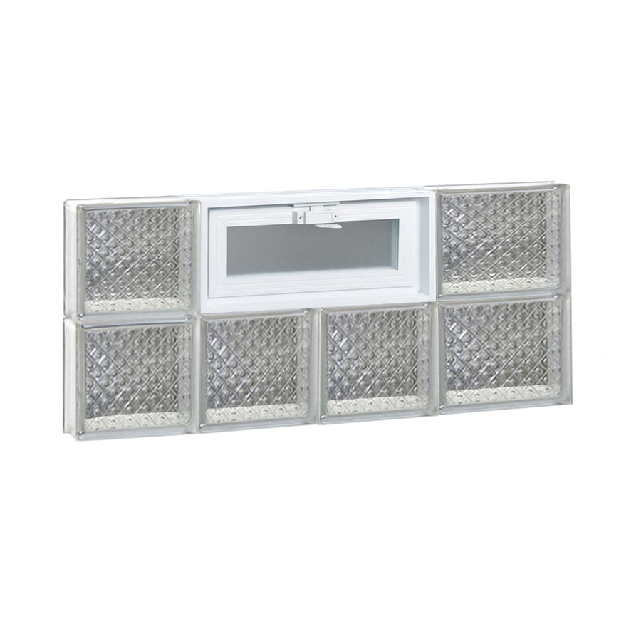 REDI2SET Diamond Pattern Frameless Replacement Glass Block Window (Rough Opening: 26-in x 12-in; Actual: 25-in x 11.5-in)