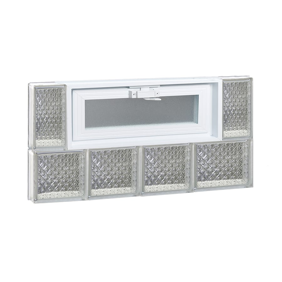 REDI2SET Diamond Pattern Frameless Replacement Glass Block Window (Rough Opening: 26-in x 14-in; Actual: 25-in x 13.5-in)
