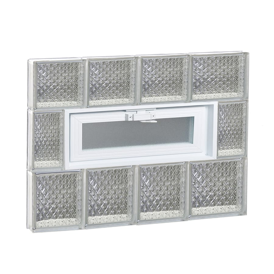 REDI2SET Diamond Pattern Frameless Replacement Glass Block Window (Rough Opening: 26-in x 22-in; Actual: 25-in x 21.25-in)