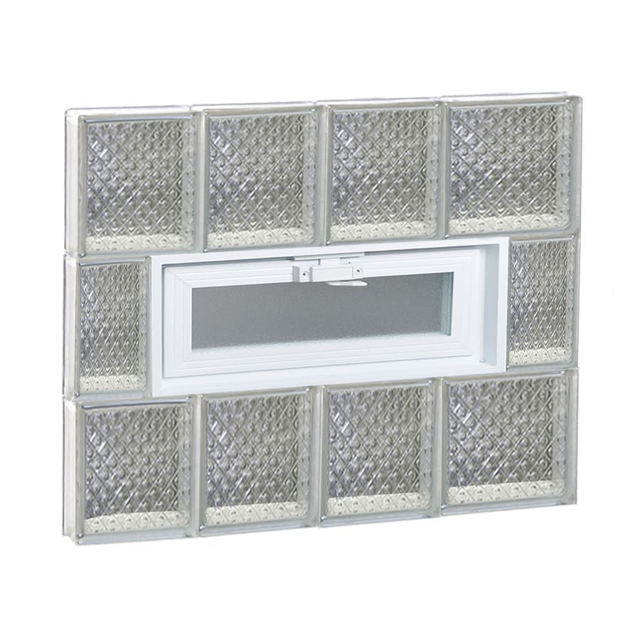REDI2SET Diamond Pattern Frameless Replacement Glass Block Window (Rough Opening: 26-in x 24-in; Actual: 25-in x 23.25-in)