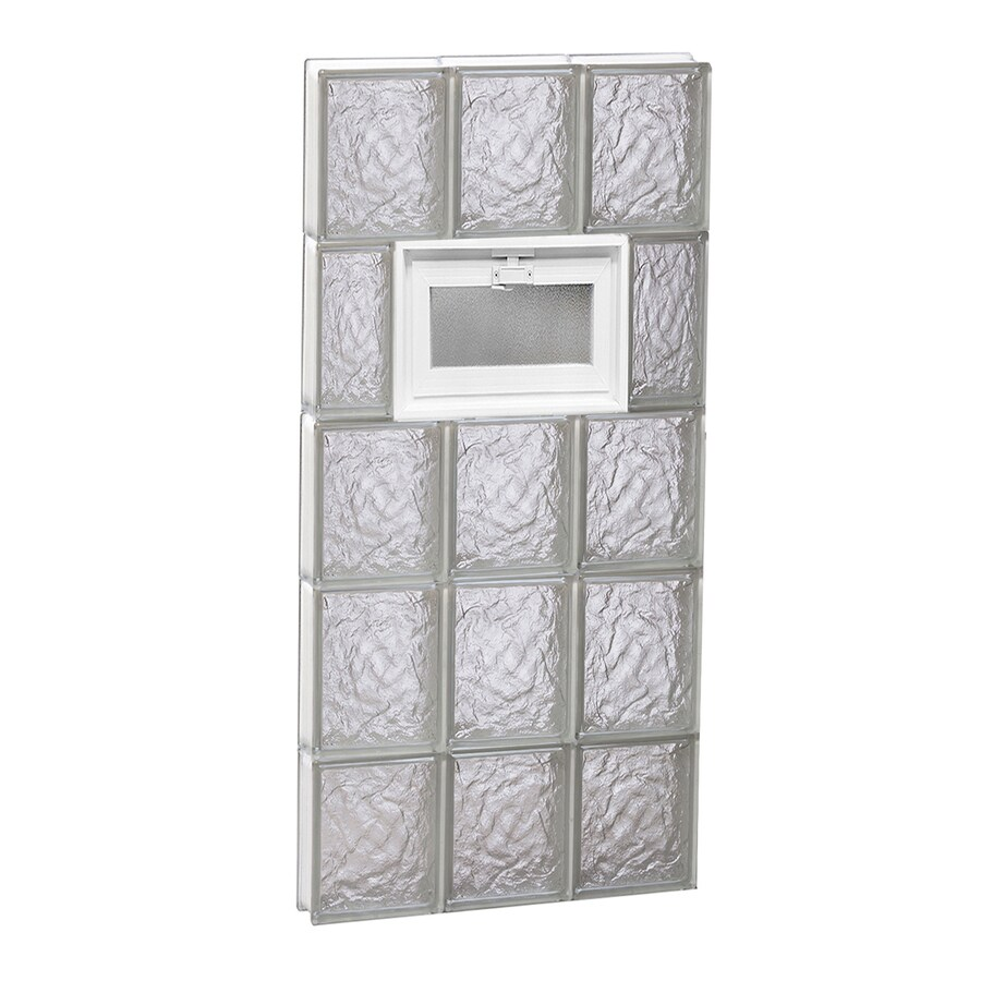 REDI2SET Ice Glass Pattern Frameless Replacement Glass Block Window (Rough Opening: 18-in x 40-in; Actual: 17.25-in x 38.75-in)