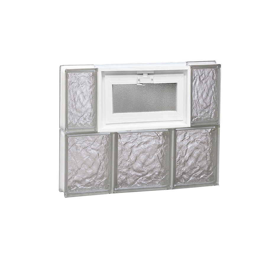 REDI2SET Ice Glass Pattern Frameless Replacement Glass Block Window (Rough Opening: 20-in x 16-in; Actual: 19.25-in x 15.5-in)