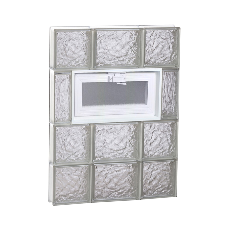 REDI2SET Ice Glass Pattern Frameless Replacement Glass Block Window (Rough Opening: 20-in x 26-in; Actual: 19.25-in x 25-in)